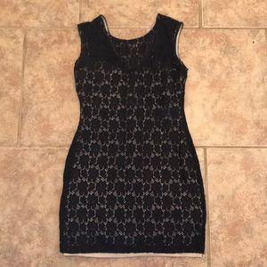 Mini lace black dress!